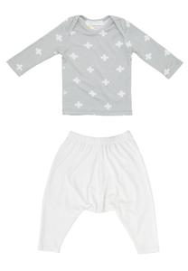 Bamboo Long Sleeve PJ set - Reverse Cross