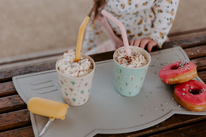 Bamboo kids cups made from melamine free and compostable bamboo by Ecocubs Australia and sold by Gumnut Kids, Ecocubs stockist online.