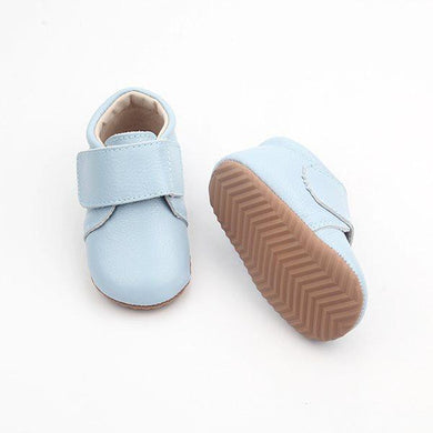Leather Baby Shoes in Baby Blue