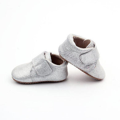Leather Baby Shoes Silver
