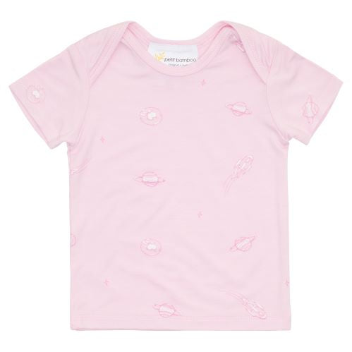 Bamboo Short Sleeve Top - Pink Space