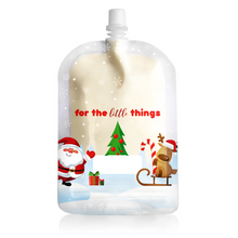 Load image into Gallery viewer,  Sinchies. 150ml top spout reusable food pouch, Christmas design, sold separately by Gumnut Kids