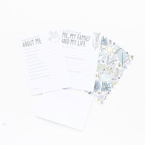 Letters to our grandchild stationary set baby shower gift two little ducklings Australia