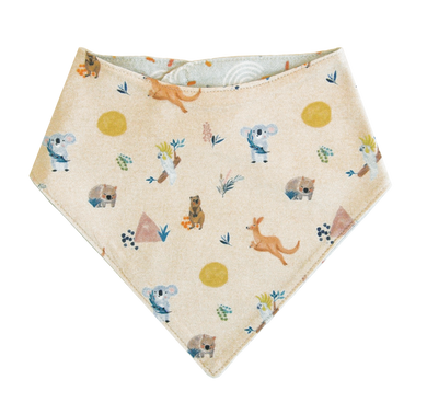 Organic Cotton Bandana Bib  Australian Animals