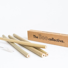 Load image into Gallery viewer, Bamboo Reusable Straws 4 pack The Boo Collective