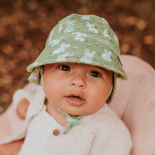 Load image into Gallery viewer, Bedhead hats. Bedhead baby legionnaire hat in Bunny print from the Bedhead Winter Originals 2021 collection, sold by Gumnut Kids.