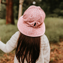Load image into Gallery viewer, Bedhead Hats. Sophia - ponytail bucket hat for girls. A pink design from the 2021 Winter Bedhead hat collection, sold by Gumnut Kids