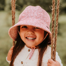 Load image into Gallery viewer, Bedhead hats. Girls ponytail bucket hat in Sophia. Gumnut Kids is a bedhead stockist based in Sydney