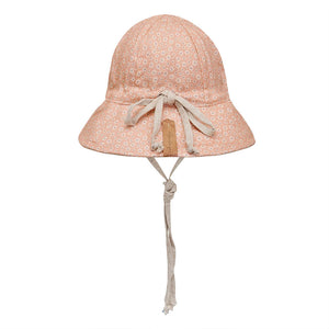 Bedhead hats heritage collection reversible linen sun hat polly back view