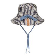Load image into Gallery viewer, Bedhead hats heritage collection kids reversible linen bucket hat simpson back view