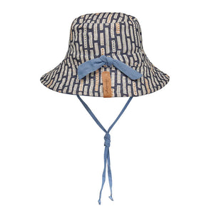 Bedhead hats heritage collection kids reversible linen bucket hat simpson back view