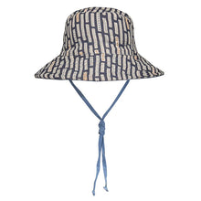 Load image into Gallery viewer, Bedhead hats heritage collection kids reversible linen bucket hat simpson front view