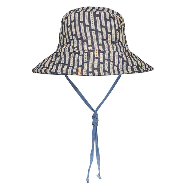 Bedhead hats heritage collection kids reversible linen bucket hat simpson front view