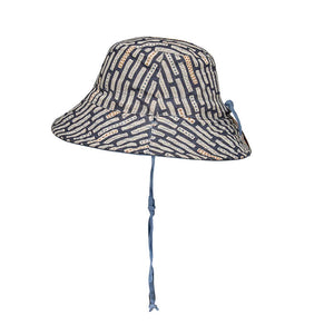 Bedhead hats heritage collection kids reversible linen bucket hat simpson side view