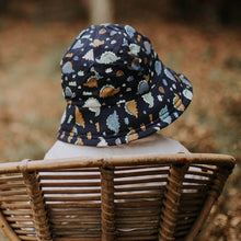 Load image into Gallery viewer, Bedhead hats. Bedhead Toddler Bucket Hat in Blue Stegosaurus. Gumnut Kids is a Bedhead hats stockist based in Berowra, NSW.