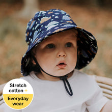 Load image into Gallery viewer, Bedhead Hats. Bedhead Hat toddler boys bucket hat in Stegosaurus sold by Gumnut Kids. Bedhead hats are comfortable and cute hats for babies and children.