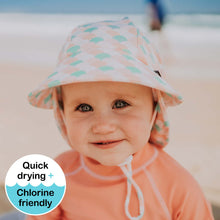 Load image into Gallery viewer, Bedhead hats. Baby girl beach hat - Bedhead Legionnaire hat in Ariel sold by Gumnut Kids.