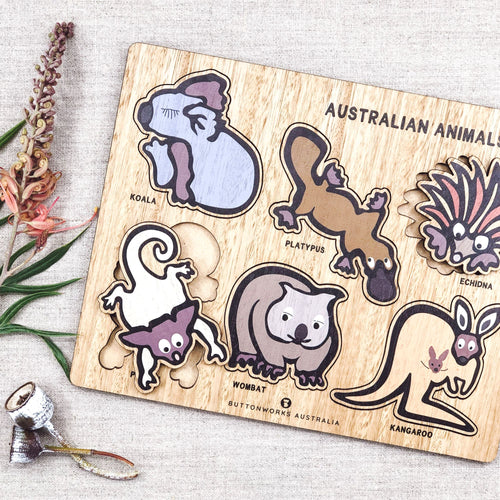 Buttonworks Jolly Australian animal puzzle. Gumnut Kids is an online Buttonworks stockist in Sydney.