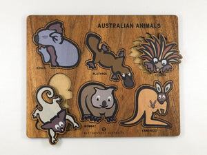 Buttonworks Jolly Australian animal puzzle. Made in Australia from sustainably sourced timber and sold by Gumnut Kids, Berowra, NSW.