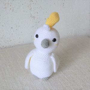 Crochet Cockatoo. Handmade Australian bird plush toy. Galah Australian baby shower present