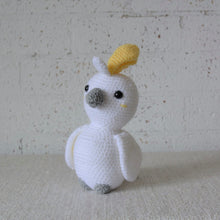 Load image into Gallery viewer, Crochet Australian Bird. The Cockatoo is handmade in Australia by Coastal Crochet Queen and sold by Gumnut Kids, Berowra, NSW.