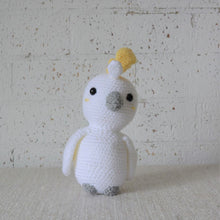 Load image into Gallery viewer, Kookaburra. Handmade crochet Cockatoo Australian bird toy. For Australian theme nursery and bedroom decor. Sold by Gumnut Kids, online children's store in Sydney.