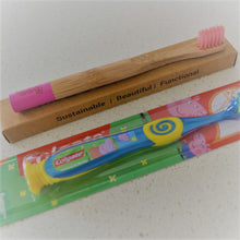 Load image into Gallery viewer, Bamboo Childrens Toothbrush The Boo Collective Pink