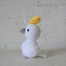 Load image into Gallery viewer, Australian bird toy. Crochet Cockatoo. Also know as the pink or grey cockatoo. Sold by Gumnut Kids, online store that specialises in children's Australiana gifts.