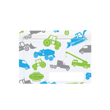 Load image into Gallery viewer, Sinchies. Sinchies reusable trucks snack bag. 20% off at Gumnut Kids