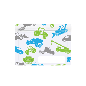 Sinchies. Sinchies reusable trucks snack bag. 20% off at Gumnut Kids
