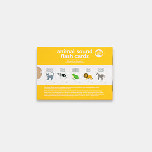 Animal sound flash cards, set of 20 by Two Little Ducklings, made in Australia from sustainably sourced paper stock.