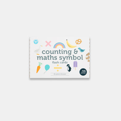 Two Little Ducklings. Counting and math symbol flash card set sold by Gumnut Kids, Sydney online children's store.