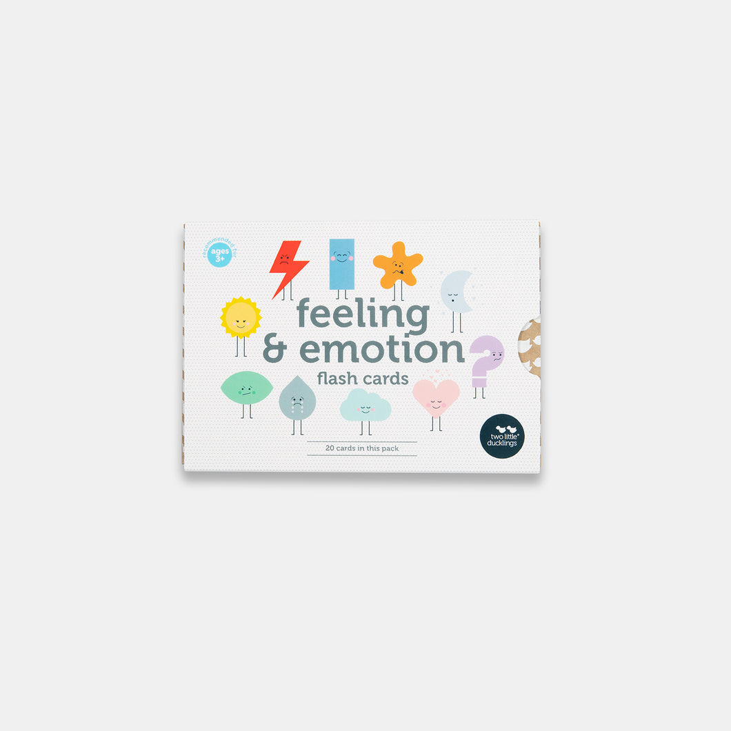Feeling and emotion flash card set for preschoolers made by Two Little Ducklings in Australia and sold by Gumnut Kids