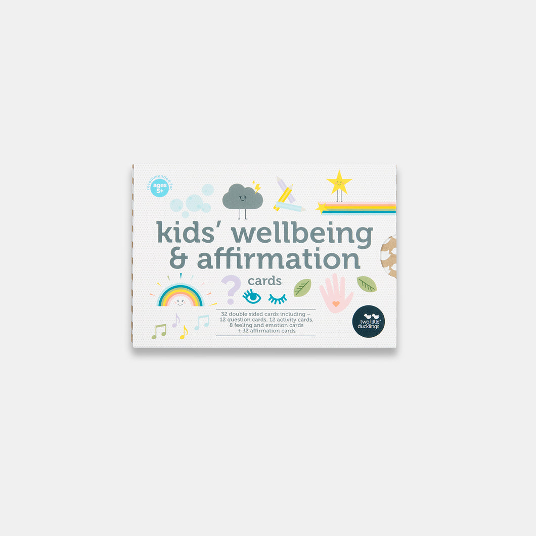 Two Little Ducklings Kid's wellbeing and affirmation cards sold by Gumnut Kids'