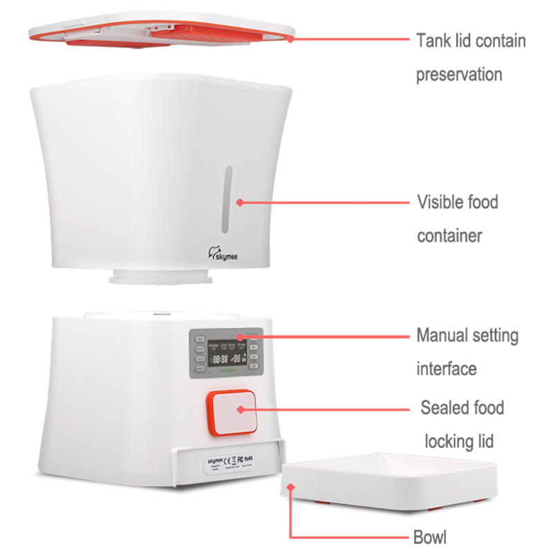 Skymee Automatic  Timed & Customized Pet Feeder for Cats & Dogs - Skymee Store
