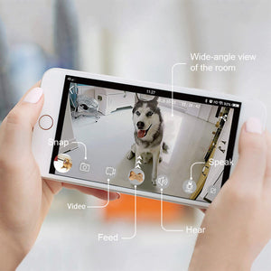 Skymee Dog Camera Treat Dispenser, WiFi Remote HD Pet Camera with 2 Way Audio, Compatible with Alexa - Skymee Store
