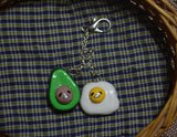 Avocado and Egg Gudetama Keychain