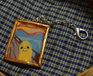 """The Scream"" Gudetama Keychain"