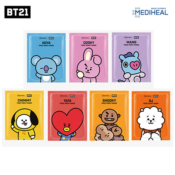BT21 x MediHeal Face Point Mask Set