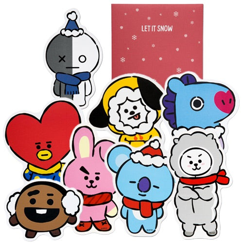BT21 Winter Message Card