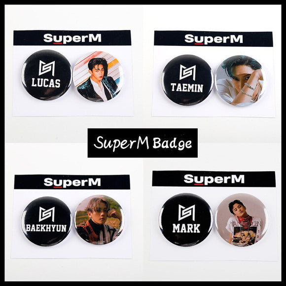 SuperM Round Badge