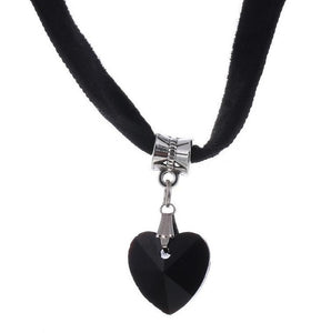 Crystal Heart Choker