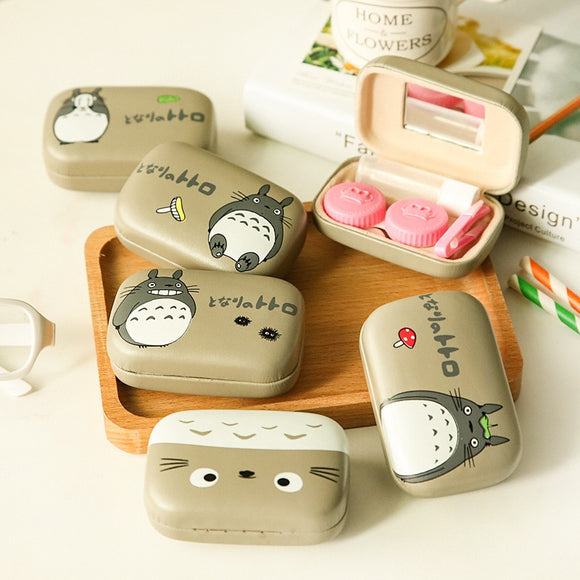 Totoro Leather Contact Case