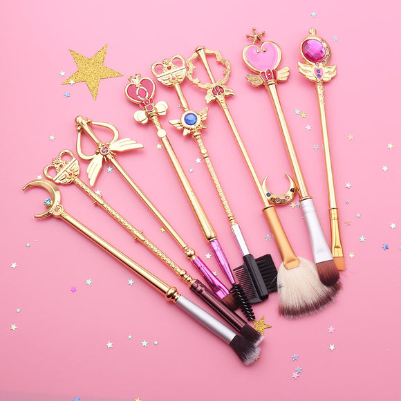 Sailor Moon Wand Makeup Brush Set