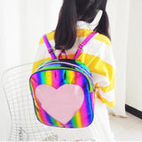 Mini Candy Heart Rainbow Backpack