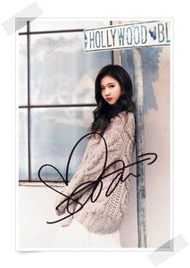 TWICE Sana Signed Photo (Hollywood)