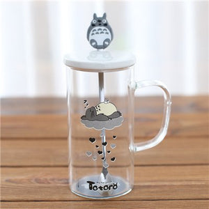 Totoro White Iced Coffee Mug