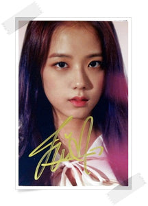 BLACKPINK Jisoo Signed Photo (Up Close)