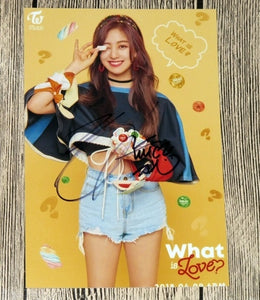 TWICE Jihyo What is Love? Signed Photo