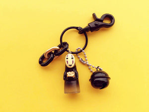 No Face Bell Keychain